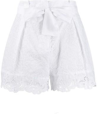 Ermanno Scervino Paperbag Waist Shorts