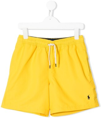 Ralph Lauren Kids Logo-Embroidered Swim Shorts