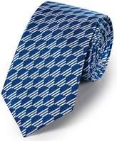 Charles Tyrwhitt Royal Blue Silk Geometric Classic Tie