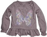 Burt's Bees Baby Butterfly Peasant Tee (Baby) - Boysenberry Heather-3-6 Months
