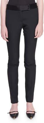 Tom Ford Slim-Leg Ankle Tux-Striped Pants