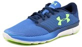 Under Armour Charged Reckless Round Toe Synthetic Running Shoe.
