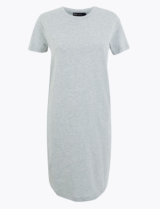 Marks and Spencer Pure Cotton Mini T-Shirt Dress