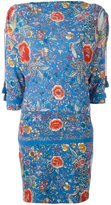 Roberto Cavalli boat neck floral dress - women - Viscose/Spandex/Elastane - 44