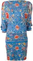Roberto Cavalli boat neck floral dress