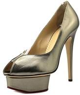Charlotte Olympia E109242mna0050 Women Patent Leather Gray Platform Heel.