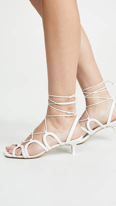 Zimmermann Scallop Kitten Heel Sandals