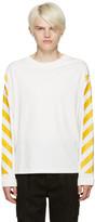 Moncler O White Striped Sleeves T-shirt