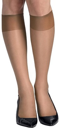 Hanes Silk Reflections Reinforced Toe Knee Highs 6-Pack