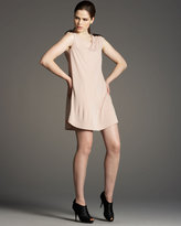 Studded-Shoulder Dress