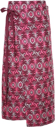 Comme Des Garçons Pre-Owned Embroidered Wrap Around Skirt