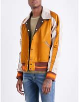 Maison Margiela Reversible satin varsity jacket