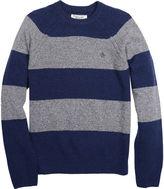 Original Penguin Jersey Wide Striped Crew Sweater
