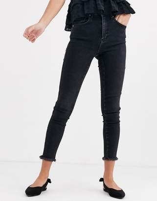Free People Raw high rise skinny jeans-Black