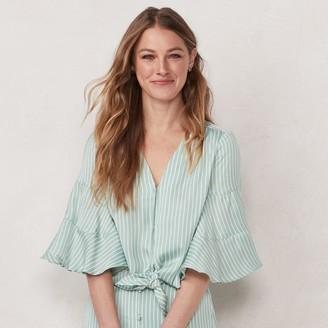 Lauren Conrad Women's Flare-Sleeve Button-Down Top