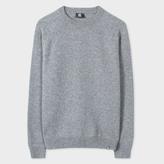 Paul Smith Men's Grey Marl Merino-Wool Raglan Knitted Sweater