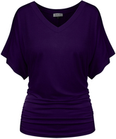 BB Purple Flutter-Sleeve Tee - Women & Plus