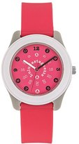 Lulu Castagnette Girl's Watch 38704 – Analogue Quartz – Pink Dial Pink Plastic Strap