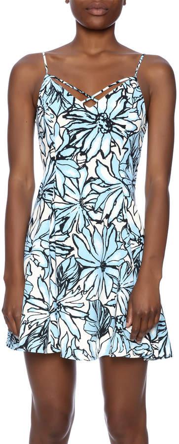 Alythea Floral Lace-Up Dress
