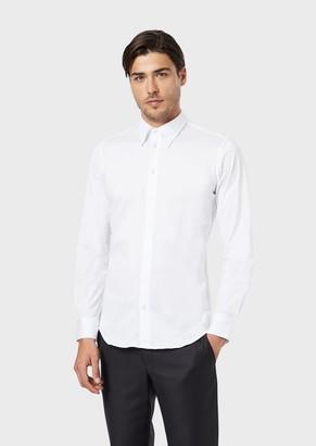 Giorgio Armani Slim-Fit, Cotton Jersey Shirt