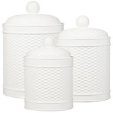 Home Essentials and Beyond Round Basketweave Canisters - Set of 3