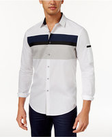 INC International Concepts Men's Salvatore Colorblocked Shirt, Only at Macy's