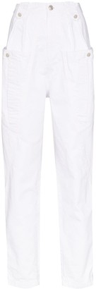 Isabel Marant Kerris cargo pocket tapered trousers