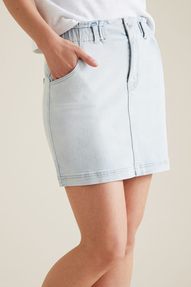Seed Heritage Pull On Denim Skirt
