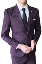 Liveinu Men's Slim Fit Blazer Jacket One Button Formal Sport Coats
