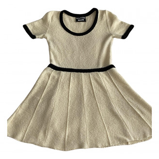 Moschino Ecru Wool Dresses
