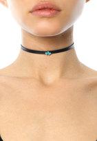 Jennifer Zeuner Jewelry Ivy Leather Choker With Turquoise