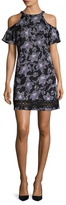 Julia Jordan Printed Halter Flared Dress