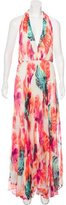 Alice + Olivia Abstract Print Evening Dress w/ Tags