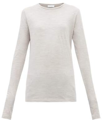 Raey Long-sleeved Slubby Cotton-jersey T-shirt - Womens - Grey