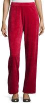 Joan Vass Velour Full-Length Jog Pants, Plus Size