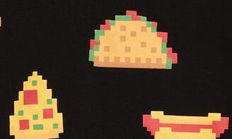 TINY TRIBE Pixel Food Long Sleeve Tee