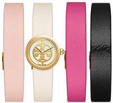 Tory Burch The Reva Slide Watch Set with Box, Golden/Multi