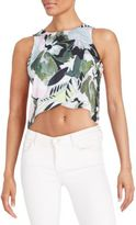 Romeo & Juliet Couture Printed Crop Top