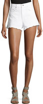 Rag & Bone Justine High-Rise Cutoff Jean Shorts, White