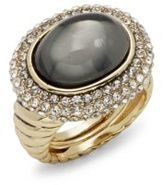 Saks Fifth Avenue Fancy Oval Pave Ring