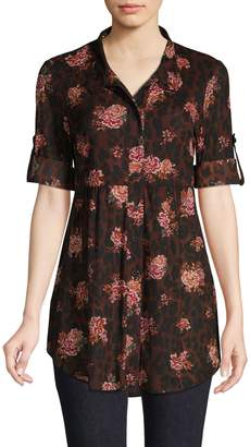 Style&Co. Style & Co. Petite Floral-Print Shirt