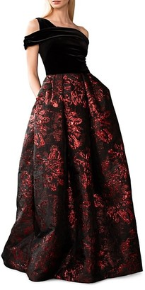 Theia Brocade Ball Gown