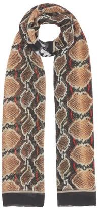 Burberry Python Print Silk Chiffon Scarf