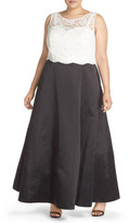 Xscape Evenings 2-Piece Lace & Satin Gown (Plus Size)