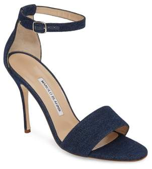 Manolo Blahnik Tres Ankle Strap Sandal