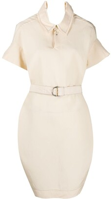 Marni Crinkled Effect Belted Shirt Dress