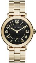 Marc Jacobs Women's Riley Gold-Tone Three-Hand Stainless Steel Watch, 36mm