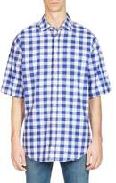 Acne Studios Albany Checkered Button-Down Shirt