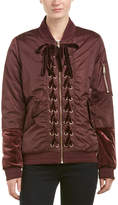 Sam Edelman Lace-Up Front Bomber Jacket