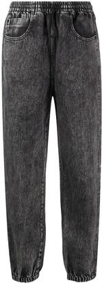 Alexander Wang Drawstring Waist Tapered Jeans